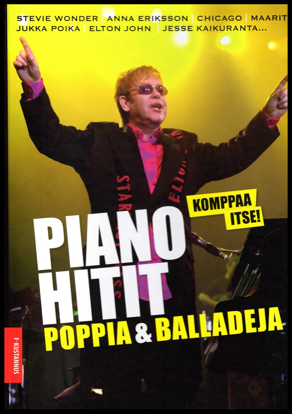 Pianohitit Poppia ja Balladeja Vapaa säestys